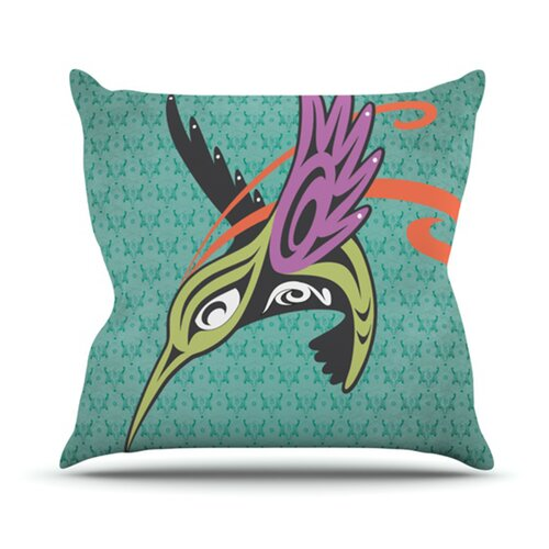 Hummingbird Friends Throw Pillow