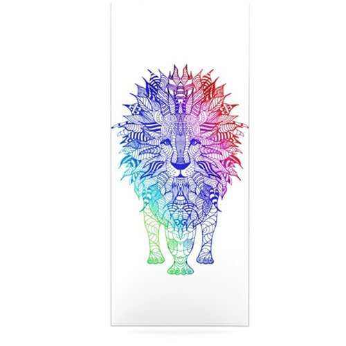 KESS InHouse Rainbow Lion by Monika Strigel Graphic Art Plaque