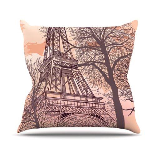 Decorative Pillows Eiffel Tower : Eiffel Tower Throw Pillow Wayfair