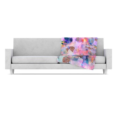 KESS InHouse Sparkle Mist Fleece Throw Blanket
