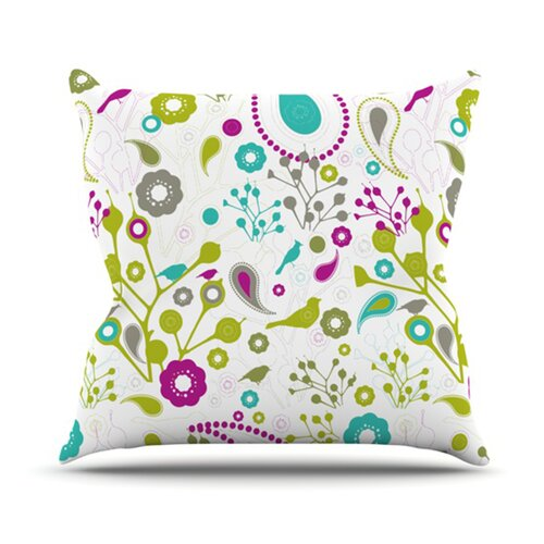 KESS InHouse Bird Fantasy Throw Pillow