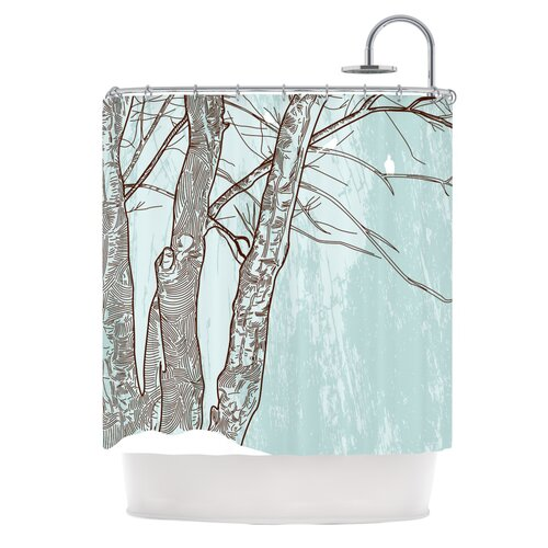 Winter Trees Polyester Shower Curtain