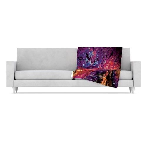 KESS InHouse Passion Flowers II Fleece Throw Blanket
