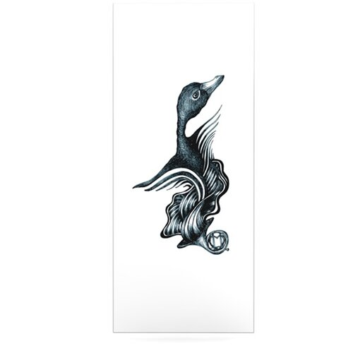 Swan Horns by Graham Curran Graphic Art Plaque