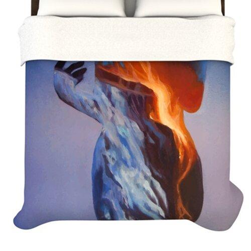 KESS InHouse Volcano Girl Duvet Cover
