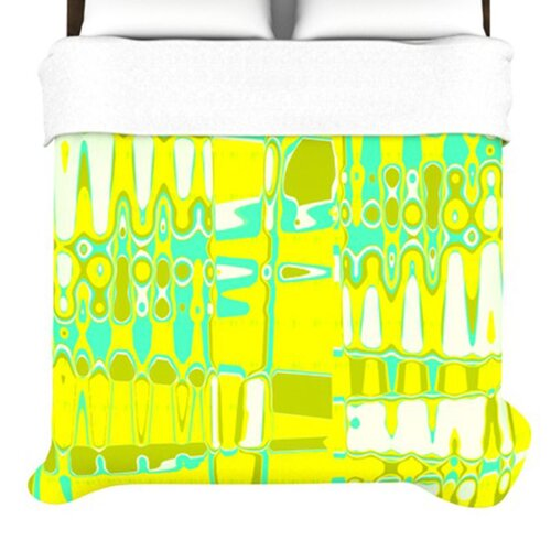 KESS InHouse Changing Gears in Sunshine Duvet Cover
