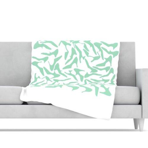 KESS InHouse Shoe Fleece Throw Blanket