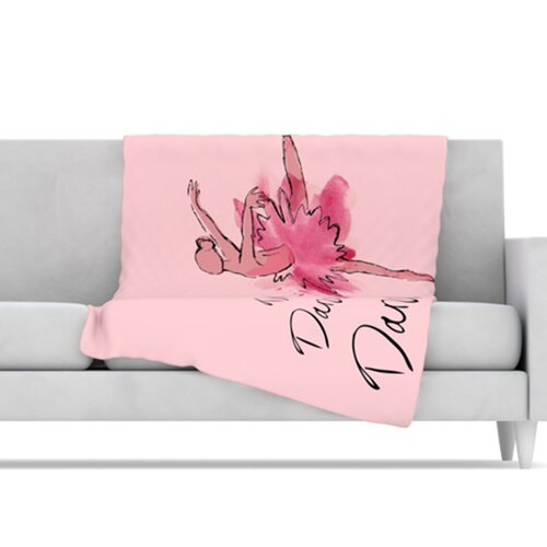Ballerina Microfiber Fleece Throw Blanket