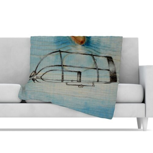 Bird Cage Microfiber Fleece Throw Blanket