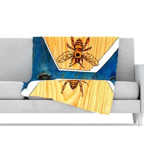 Bees Microfiber Fleece Throw Blanket