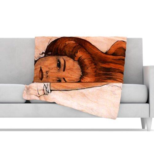Girl Microfiber Fleece Throw Blanket
