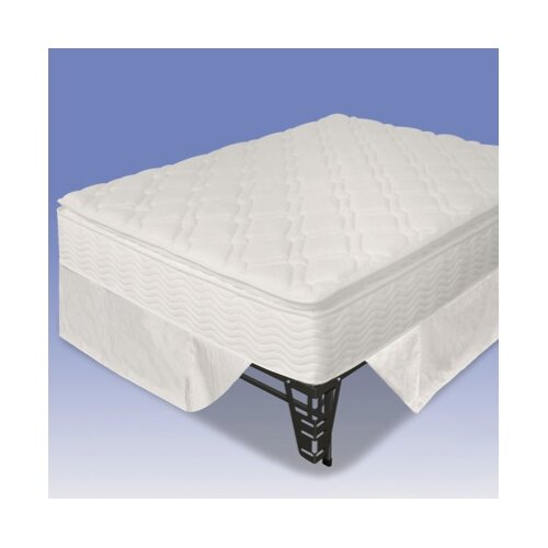 "Sleep Revolution 12"" Euro Box Top Spring Mattress and Steel Foundation Set"