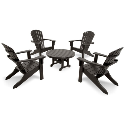 Ivy Terrace Classics 5 Piece Adirondack Seating Group