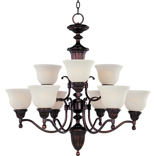 Wildon Home ® Collinsford 9 - Light Multi - Tier Chandelier
