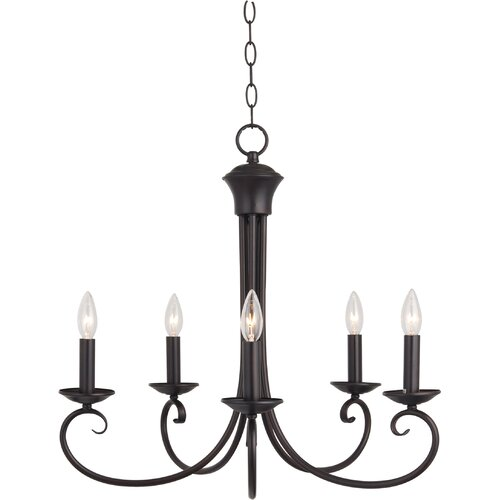 Wildon Home ® Shwan 5 - Light Single - Tier Chandelier
