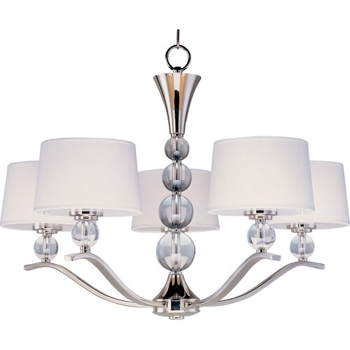 Wildon Home ® Clave 5 - Light Single - Tier Chandelier