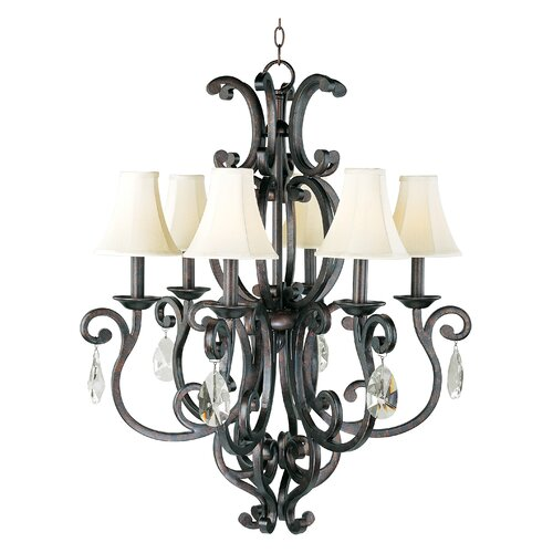 Hailee 6 - Light Single - Tier Chandelier