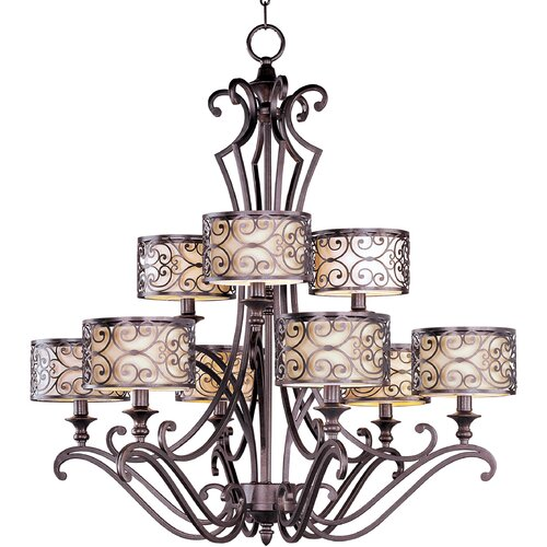 Wildon Home ® Timbora 9 - Light Multi - Tier Chandelier