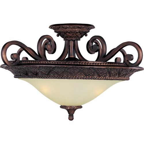 Wildon Home ® Medley 3 - Light Semi - Flush Mount