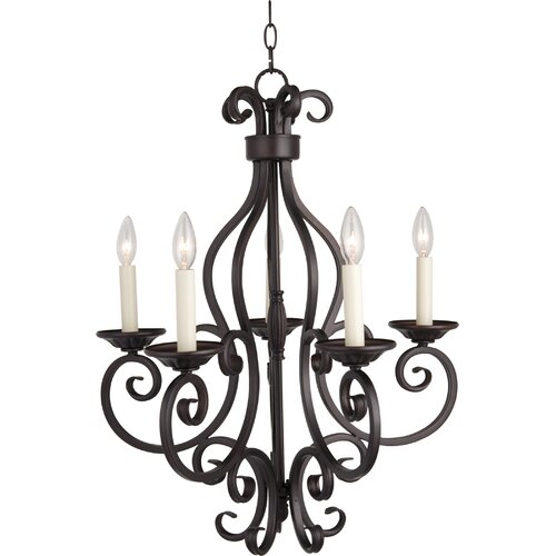 Maxim Lighting Manor 5 Light Candle Chandelier