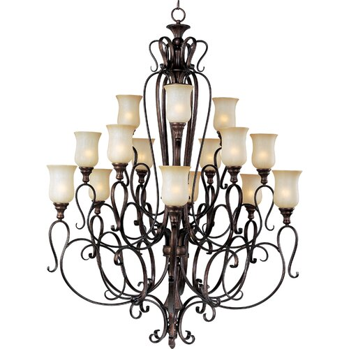 Wildon Home ® Curtin 15 - Light Multi - Tier Chandelier