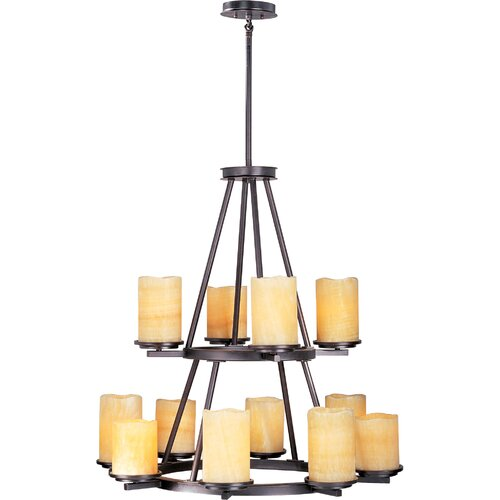 Wildon Home ® Songo 12 - Light Multi - Tier Chandelier