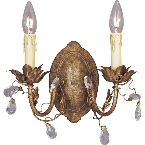 Maxim Lighting Elegante 2 Light Candle Wall Sconce