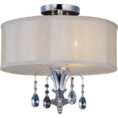 Wildon Home ® Bradford 3 - Light Semi - Flush Mount