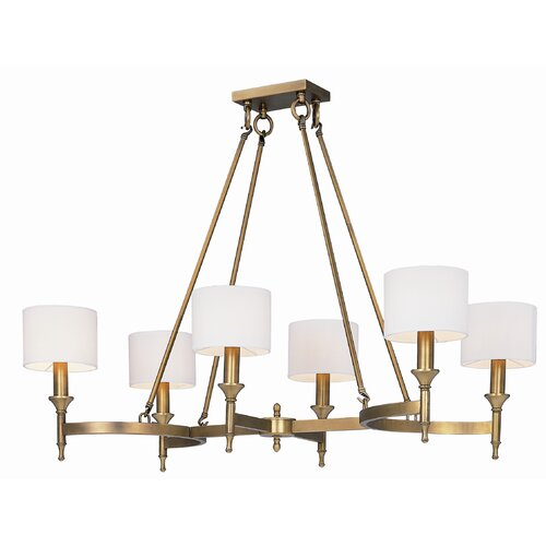 Wildon Home ® Milan 6 - Light Single - Tier Chandelier