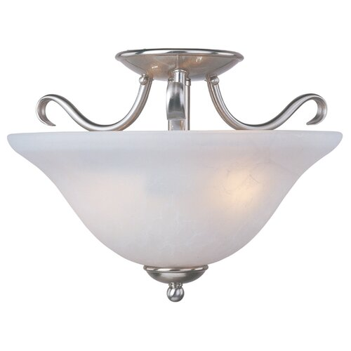 Maxim Lighting Basix 2 Light Semi Flush Mount