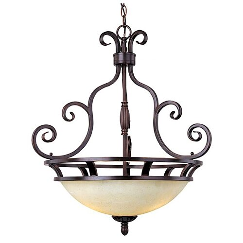 Wildon Home ® Tenor 3 - Light Invert Bowl Pendant
