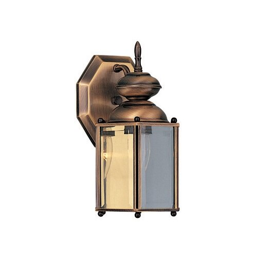 Wildon Home ® Builder Brass Outdoor Wall Lantern