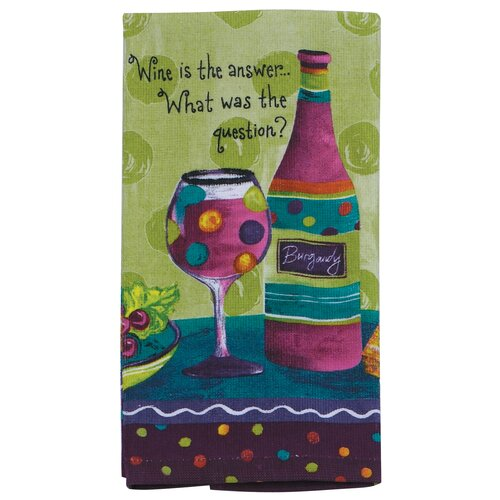 Kay Dee Designs Wine Is the Answer What was the Question Kitchen Terry Towel
