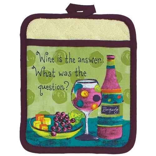Wine or Grapes Design Pocket Oven Mitt (Set of 6)