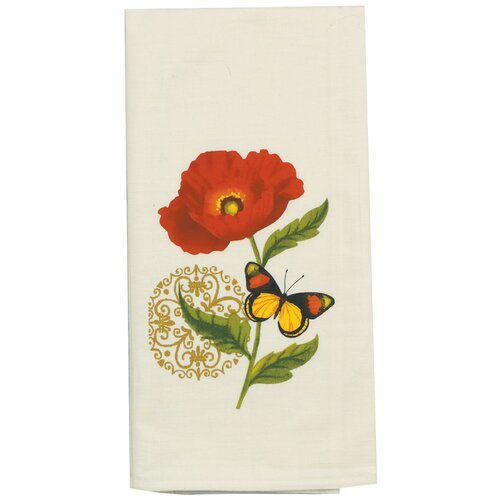 Kay Dee Designs Poppies Design Flour Sack Kitchen Towel
