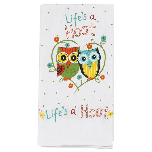 Kay Dee Designs Life's a Hoot Flour Sack Kitchen Towel