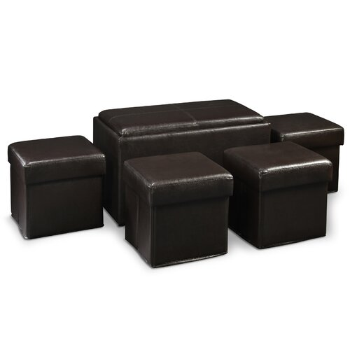 Designs4Comfort Manhattan Storage Bench Ottoman