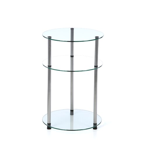 Convenience Concepts Classic Glass Three Tier End Table