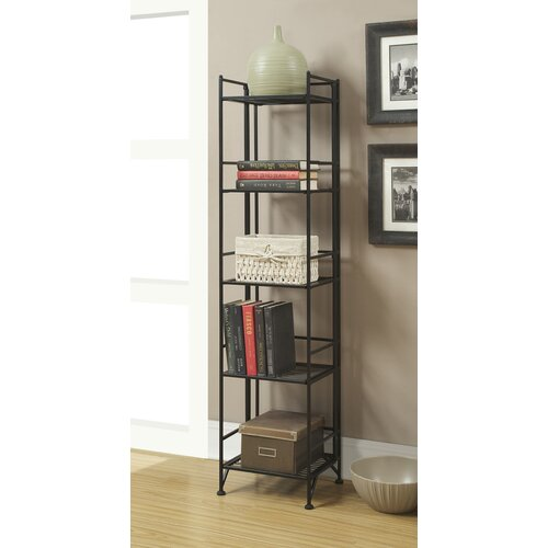 XTRA Storage 5 Tier Folding Shelf in Black