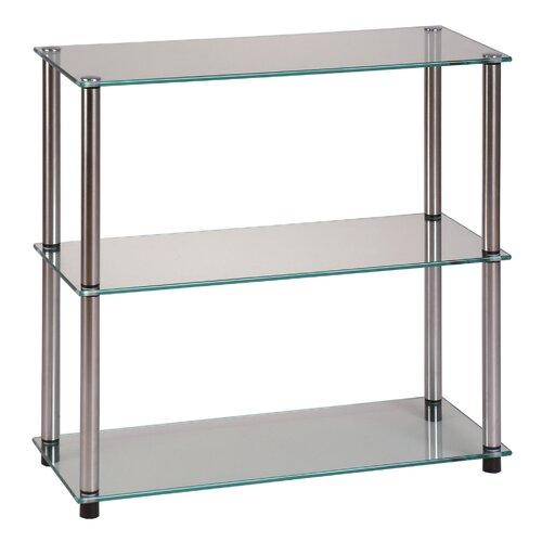"Convenience Concepts Classic Glass 26.5"" Bookcase"