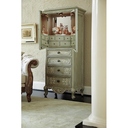 Jessica Mcclintock Display Jewelry Armoire With Mirror