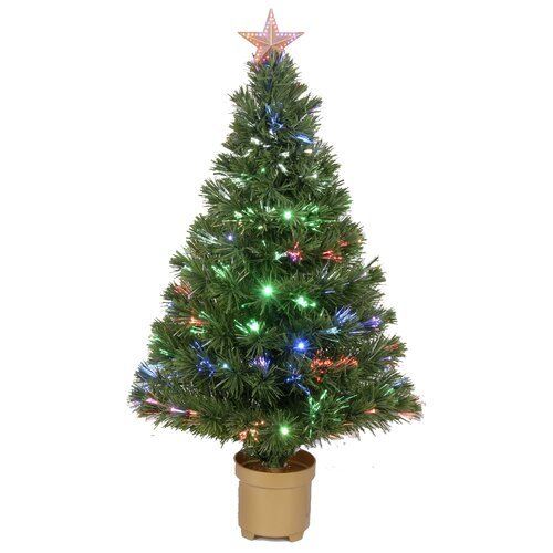 Jolly Workshop 3' Green Artificial Christmas Tree with 20 LED Lights with Stand