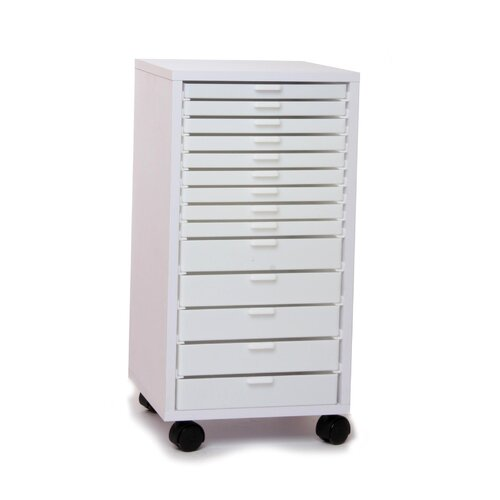 """Best Craft Organizer 14"""" Mini Stackable Rolling Cabinet"""