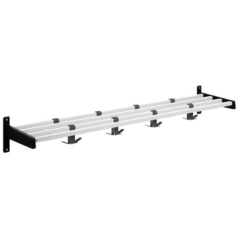 Hook Style Coat Rack with Aluminum Shelf Bars