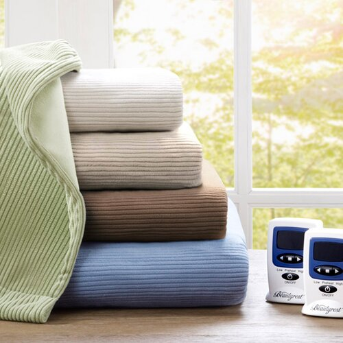 Simmons Beautyrest Micro Fleece Polyester Heated Blanket