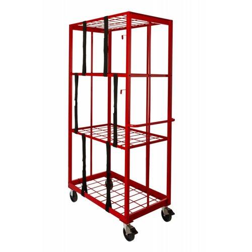 "Opti Cart Storage & Stocking 81"" Shelf Organizer Cart"
