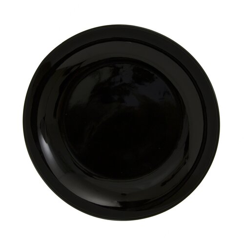 "Ten Strawberry Street Black Coupe 7.5"" Salad / Dessert Plate"