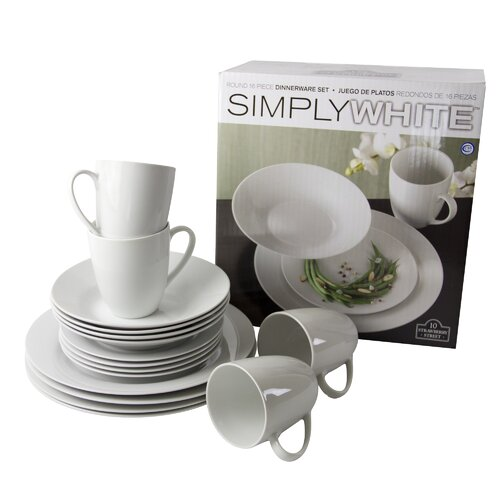Simply Round 16 Peice Dinnerware Set