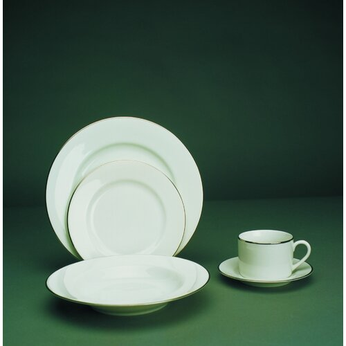 "Ten Strawberry Street Silver Line 7.5"" Salad / Dessert Plate"
