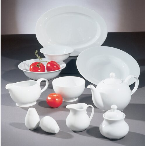 Ten Strawberry Street Royal White 20 oz. Footed Rice Bowl